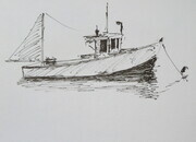 Maine Lobster Boat Sketches 2