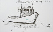 Maine Lobster Boat Sketches 3