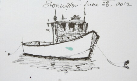 Maritime Len paintings by len hughes maritime and harbours maine lobster boat