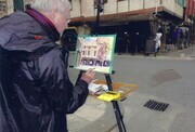 Painting on location in the Town Square in Mirepoix