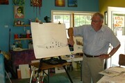 Teaching at the Art Centre, Grand Bend, Ontario